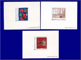 FRANCE Epreuves De Luxe EPL - 1811/13, 3 épreuves: Arphila, Miro, Sisley, Mathieu - Cote: 330 - Epreuves De Luxe