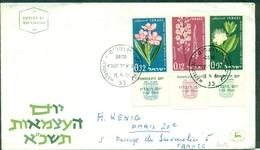 FLEURS Israel N° 200 / 202 Avec TABS  Fdc 1961 .TB . - Végétaux