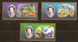 Cook Islands 2007 Yvertn° 1287-1289 *** MNH Cote 80 Euro Faune Oiseaux Papillons Poissons - Cook