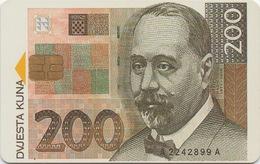 Télécarte Croitie : 200 Kuna Billet De Banque 1995 - Stamps & Coins