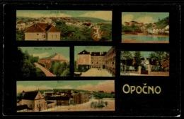 Ref 1274 - Early Postcard - Opočno Bohemia Czech Republic - Austria Cinderella Stamp - Czech Republic