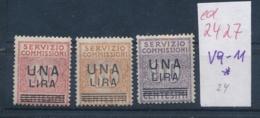 Italien Nr.  V 9-11 *      (ed2427  ) Siehe Scan - Steuermarken
