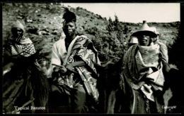 Ref 1274 - Real Photo Ethnic Postcard - Typical Basuto - Basutoland Lesotho - Africa