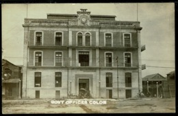 Ref 1274 - Early Real Photo Postcard Colon Government Offices - Panama Canal Zone USA - Panama