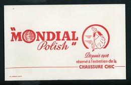 BUVARD:  MONDIAL POLISH - FORMAT  Env. 13,5X21,5 Cm - Chaussures