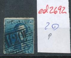 Belgien Nr. 2 O-Farbe/Stempel....?   (ed2692  ) Siehe Scan - 1849 Epaulettes