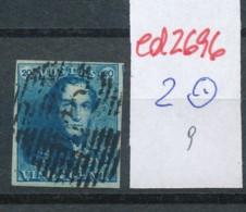Belgien Nr. 2 O-Farbe/Stempel....?   (ed2696  ) Siehe Scan - 1849 Epaulettes