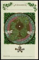 Ref 1274 - 1932 Ireland Postcard - Eucharistic Congress Souvenir Card - Religion Theme - Other