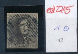 Belgien Nr. 1   O Stempel /Type....?   (ed2715  ) Siehe Scan - 1849 Epaulettes