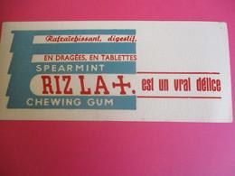 Buvard / Papier à Cigarettes/ RIZZALA+/ Chewing Gum/Rafraîchissant/Spearmint/Un Vrai Délice/1930-1950   BUV294 - Tobacco