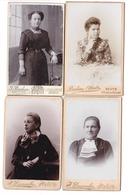 HERVE Lot De 4 Photos De Cabinet Photographes: Dumoulin & Braham - Personnes Anonymes