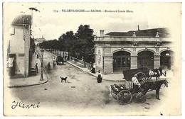 69 RHONE VILLEFRANCHE SUR SAONE Bd Louis Blanc La Gare Du CFB Précurseur 1904 TBE - Villefranche-sur-Saone
