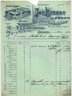 Jacques Byvoet & Zonen  Stoom-Tabakskerverij Stoom-Koffiebranderij  HECHTEL  Factuur 4 December 1913 - Belgique
