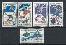"Tchécoslovaquie N°2386/90** (MNH) 1980 - ""Intercosmos"" Recherche Spatiales - Tchécoslovaquie"