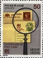 USED STAMPS - India - The 100th Anniversary Of Indian Postcard -  1979 - India