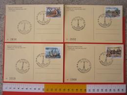 A.09 ITALIA ANNULLO - 1992 TORINO 40 ANNI LIONS CLUB OBELISCO MOTI 1821 RISORGIMENTO FR. CRISTOFORO COLOMBO SERIE 4 CARD - Geografia