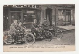 Les Champions Du Pneu Hutchinson.Le Team Rover (Delabre,Barthelemy,Psalty).Moto. - Sport Moto