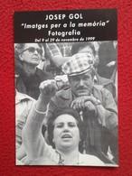 SPAIN TARJETA TIPO POSTAL POST CARD CARTE POSTALE PUBLICITARIA PUBLICIDAD ADVERTISING JOSEP GOL IMATGES PER A LA MEMÒRIA - Publicidad