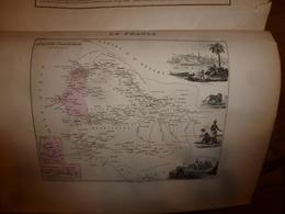 1880 : La SENEGAMBIE (Saint-Louis,Gorée,Dakar,Médines,Toro,etc)--->Carte Géo.-Descriptive En Taille Douce Par Migeon - Cartes Géographiques