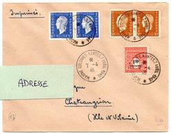 LOIRE INFERIEURE - Dépt N° 44 = NANTES  1946 = CACHET TEMPORAIRE = MARINE COLONIES - Cachets Commémoratifs