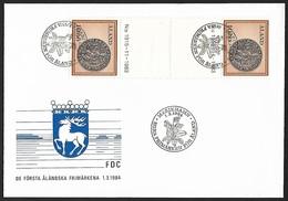 1984 - ALAND - FDC + Michel 6 [Olaf I] + MARIEHAMN - Aland