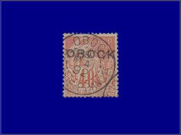 OBOCK Poste O - 18, Type B, Beau, Cachet Central: 40c. Orange - Cote: 70 - Unclassified