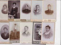 Femmes Mode Vers 1890 Réunion De 10 Photos Hodimont Soumagne Liege Verviers Aubel & Maastricht - Personnes Anonymes