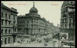 Ref 1275 - Early Postcard Trams On Rakoczi Strasse Budapest Hungary - Hungary