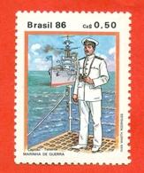 Brazil  1986. Unused Stamp. - Ships
