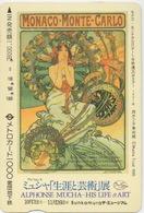 Télécarte Japonaise : Expo Alphonse Mucha : Monaco Monte Carlo - Culture