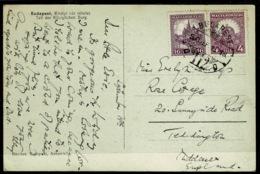 Ref 1275 - 1930 Postcard Budapest Hungary - 20 Filler Rate To Teddington UK - Hungary