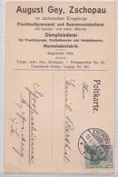 ZSCHOPAU AUGUST GEY MARMELADENFABRIK MARMELADEN FABRIK POSTKARTE 10.04.1916 FABRIQUE DE CONFITURE MARMALADE FACTORY - Germany