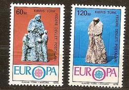 Chypre Turquie Cyprus Cept 1976 Yvertn°  16-17 *** MNH   Cote 3 Euro - Chypre (Turquie)