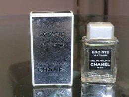 EGOISTE PLATINIUM POUR HOMME - EDT 4 ML De CHANEL - Miniatures Hommes (avec Boite)
