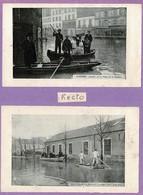 1910 Inondations RUEIL,ARGENTEUIL,PARIS,IVRY,ALFORTVILLE,ISSY-LES-MOULINEAUX Et ASNIERES.Photos Imprimées Recto-verso - Cartes Postales