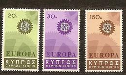 Chypre Cyprus Cept 1967 Yvertn°  284-286 *** MNH   Cote 9 Euro - Chypre (République)