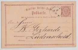 WENNEMEN MESCHEDE POSTKARTE 23.10.1874 LÜDENSCHEID - Deutschland