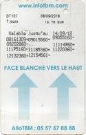 Bordeaux France : Tickarte 7 Jours 13,70 EUR Valable Du 08/09 Au 14/09/2018 - Abonnements Hebdomadaires & Mensuels
