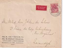 PAYS-BAS 1929 LETTRE DE AMSTERDAM - 1891-1948 (Wilhelmine)