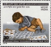 USED STAMPS - India - International Children's Book Fair, New  -  1979 - India