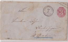 DETTINGEN WÜRTTEMBERG DREI KREUZER GANZSACHE BRIEF 29.08.1870 CRAISHEIM - Wurtemberg