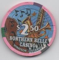 Jeton De Casino Au Canada : Northern Belle Casino : Windsor Ontario $2.50 - Casino