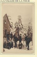 Carte-photo SKIEURS Au HAHNENBRUNNEN - MITTLACH - Mulhouse