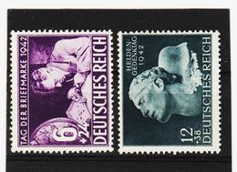 AUA1121 DEUTSCHES REICH 1942  MICHL 811/12  ** Postfrisch Siehe ABBILDUNG - Deutschland