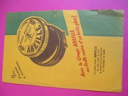 Buvard/Cirage Crême  ABEILLE/l'Email De La Chaussure/ On Frotte Moins Et ça Brille Plus /1945 -1955      BUV298 - Wassen En Poetsen