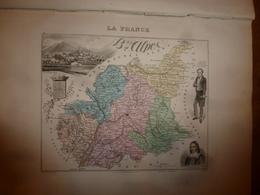 1880 :BASSES-ALPES (Digne,Sisteron,Barcelonnette,etc)  Carte Géographique-Descriptive:grav.taille Douce-Migeon,géographe - Cartes Géographiques