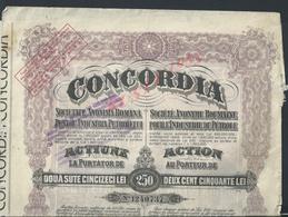 ROMANIE CONCORDLA INDUSTRIE DE PETROLE VEND EN ETAT : - Actions & Titres