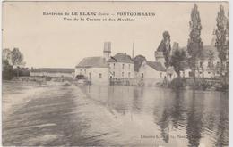 CARTE POSTALE   FONTGOMBAUD 36  Vue De La Creuse Et Des Moulins - France