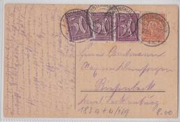 OESTINGHAUSEN LIPPETAL REICHSPOST POSTKARTE 23.10.1922 - Allemagne