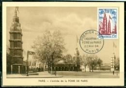 CM-Carte Maximum Card #1954-France #Tourisme-Architecture # 50° Foire De Paris #Pariser Messe, 50° Paris´s Trade - 1950-59